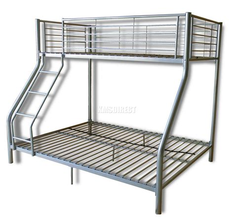 Metal Bunk Bed Frame New Silver Metal Children Sleeper Bunk Bed Frame No Mattress Ebay