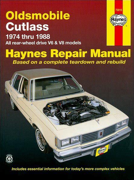 car repair manuals online free 1997 oldsmobile cutlass supreme auto manual oldsmobile cutlass repair manual 1974 1988 haynes 73015
