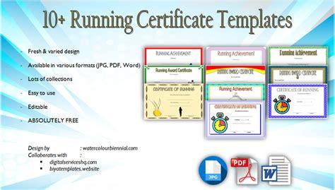 running certificates templates free 10 running certificate templates free