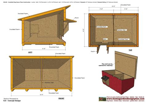 Home Garden Plans Dh100 Insulated Dog House Plans Dog House Design How To Build