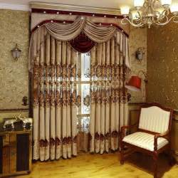 Curtain Fabric Tie Backs European Royal Luxury Curtains For Bedroom Window Curtains