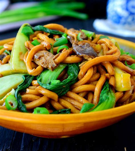 new year vegetarian noodles vegetarian udon noodle recipe with bok choy cilantro and
