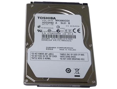 Hardisk Notebook 500gb goharddrive toshiba 500gb mk5065gsx 5400rpm sata2 8mb cache 2 5 quot notebook drive