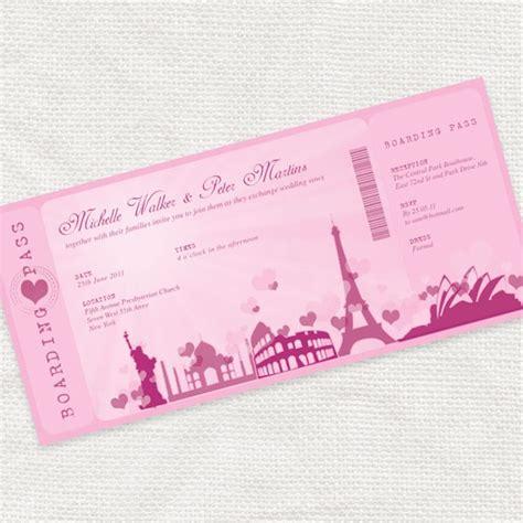 printable wedding invitation boarding pass romantic rendezvous boarding pass ticket invitation