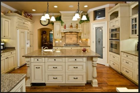 Rustic Kitchen Cabinets In Antique White Traditional White Rustic Kitchen Cabinets