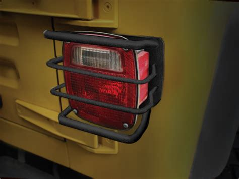 rugged ridge rear euro tail light guards    jeep cj wrangler  fortecx