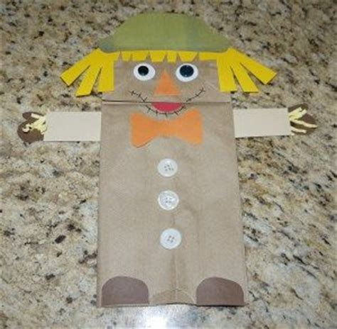 Paper Bag Scarecrow Craft - crafts activities and paper bag crafts on