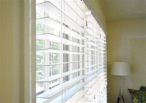 Blinds For House Windows Installing White Faux Wood Window Blinds House