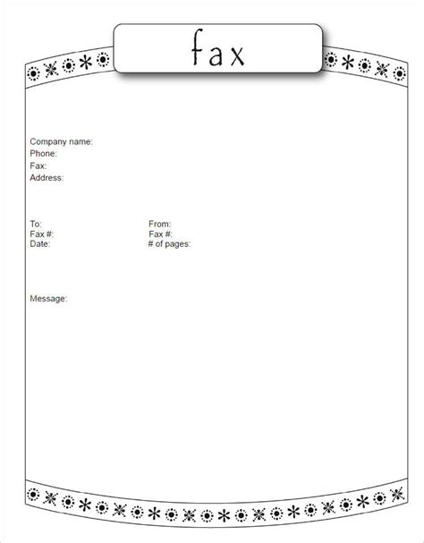 page template 19 fax cover sheet free word pdf doc exle templates