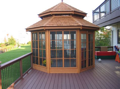 enclosed gazebo backyard enclosed gazebo
