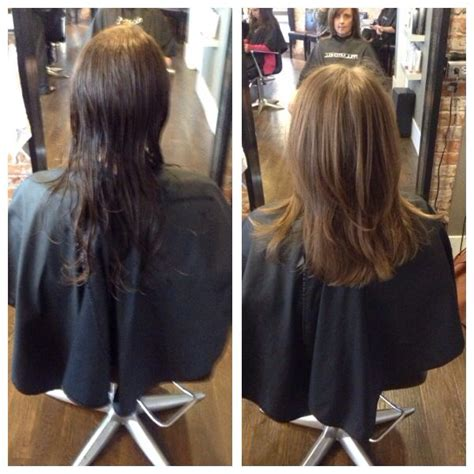 hair cut after dbs before and after long layered haircut beforeandafter