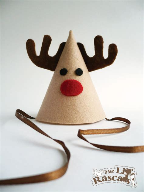 christmas rudolph the red nose reindeer party hat costume for