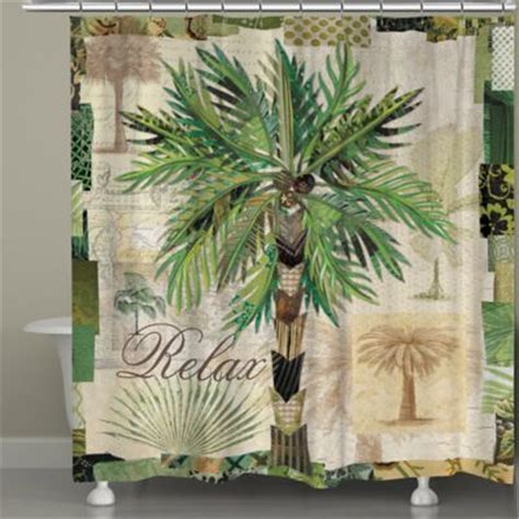 palm tree decor for bathroom laural home 174 palm scrapbook shower curtain