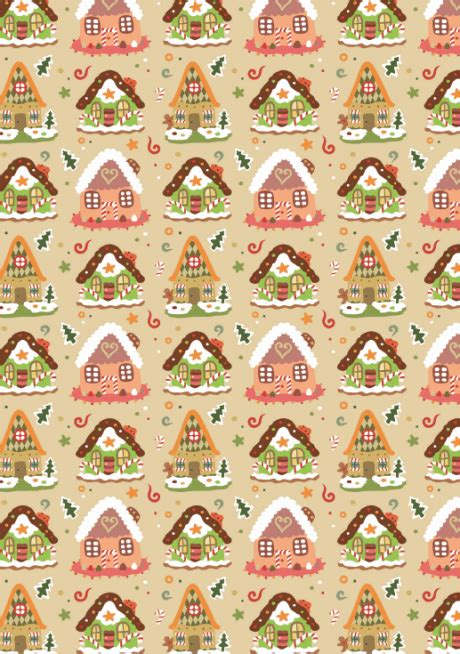 free printable xmas wrapping paper free printable christmas pattern paper gingerbread