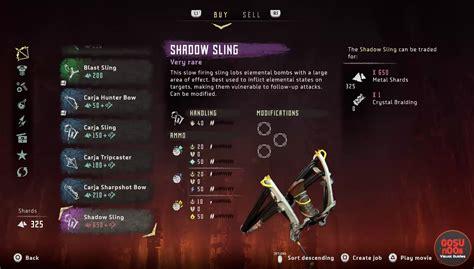 tutorial war bow horizon horizon zero dawn weapons list bows slings lances more