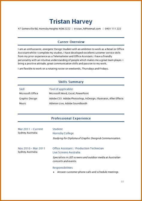 cv resume format sle 7 how to write cv for student lease template