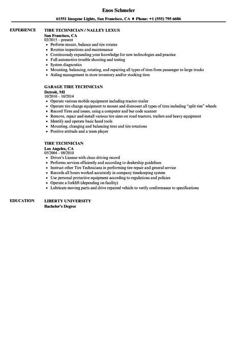 Tire Technician Cover Letter by Tire Technician Resume Resume Ideas