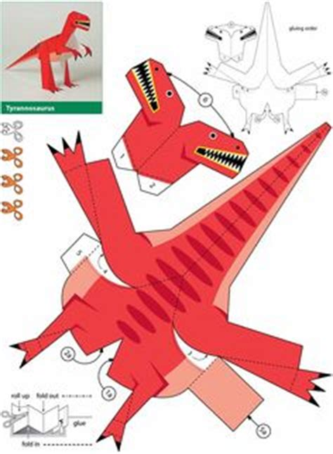 How To Make A 3d Dinosaur Out Of Paper - free dinosaur paper printable dowload template just