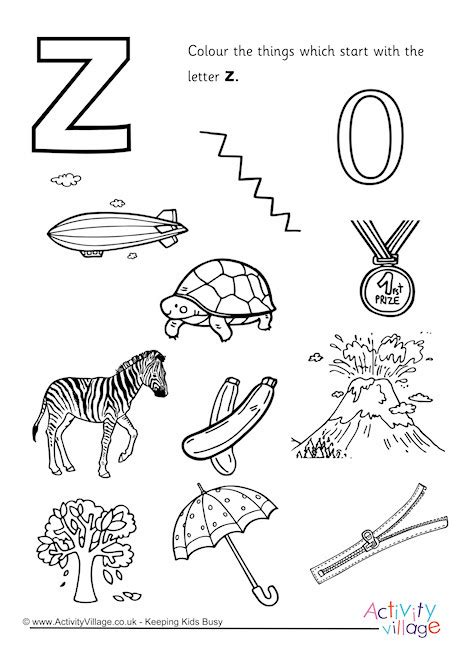 Starting With Letter Z 94 letter z for zip is zeppelin coloring pages