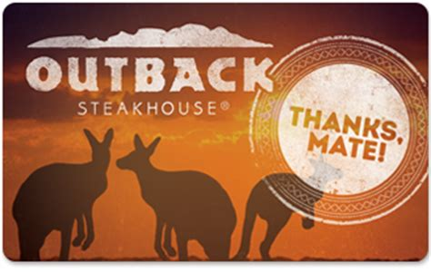 Gift Card Outback - restaurant gift cards outback steakhouse