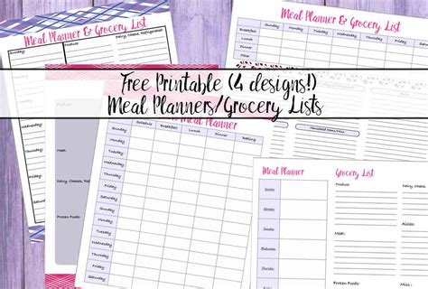 save major time and money with this grocery list template 4 free printable meal planners grocery lists save time