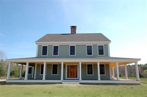 colonial farmhouse with wrap around porch farmhouse photo plan 530 3 houseplans com ultimate house plan home style pinterest