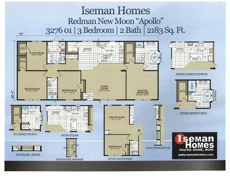 iseman homes floor plans 17 703778 109 redman apollo 32x72