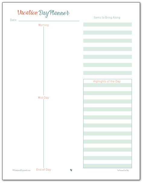 printable trip planner vacation planner printables vacation planner planners
