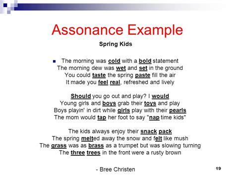 exle of assonance exles of assonance literaryelements