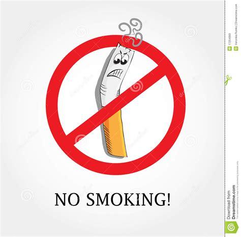 no smoking sign cartoon no smoking royalty free stock images image 17254069
