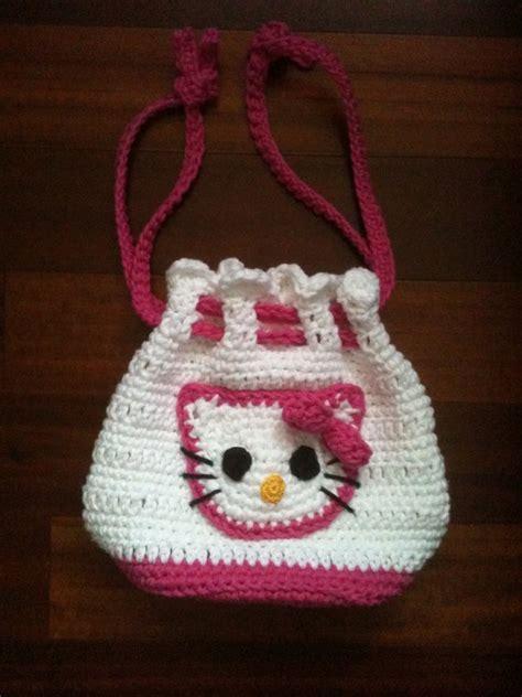 crochet pattern hello kitty bag custom boutique crochet hello kitty drawstring by