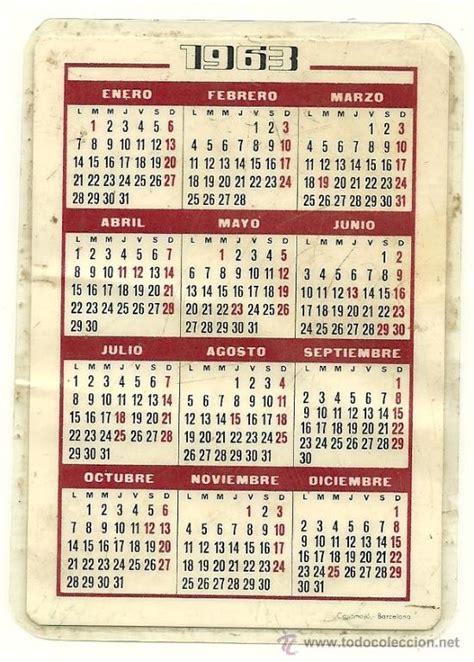 Calendario De 1963 Calendario De Hoechst Iberica S A Primer Cente Comprar