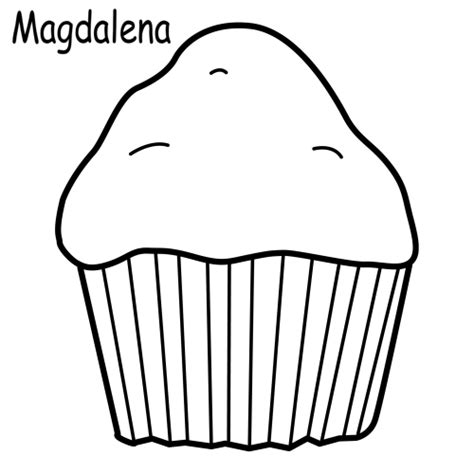 A Muffin Coloring Pages Muffin Coloring Page