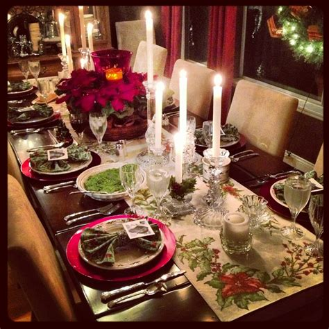 set table to dinner christmas dinner table setting christmas pinterest