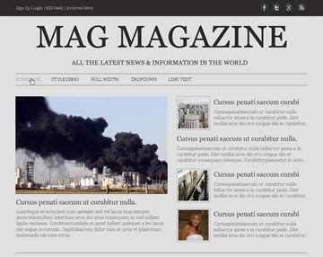 Mag Magazine Free Psd Website Template Psd Templates Os Templates Website Magazine Template