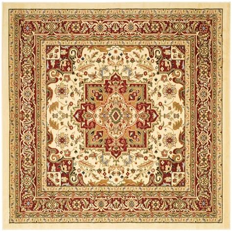 square area rugs 10 x 10 safavieh lyndhurst ivory 10 ft x 10 ft square area rug lnh330a 10sq the home depot