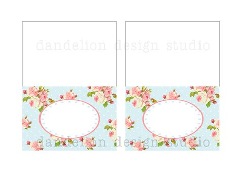printable fancy tent tags blue shabby chic party collection