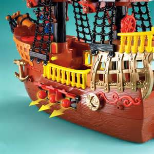 amazon fisher price imaginext adventures pirate ship toys amp games