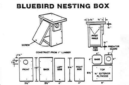 Eastern Bluebird House Plans Eastern Bluebird Nest Box Plans