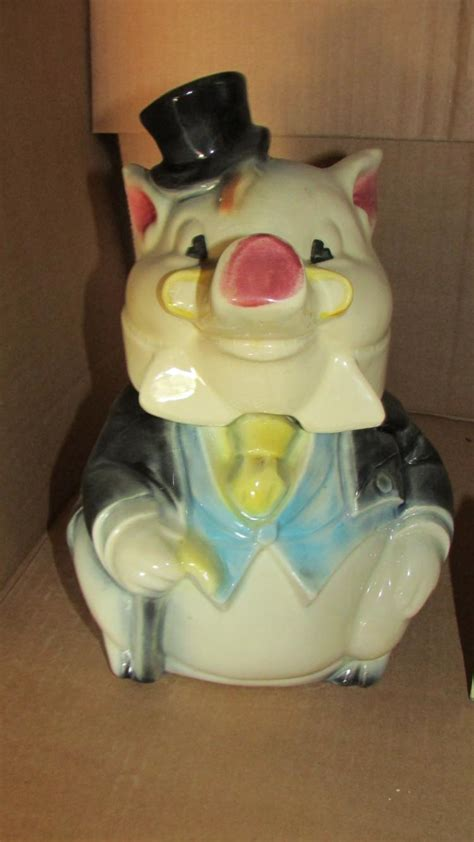 w7 usa pig with cap and tie cookie jar w7 usa