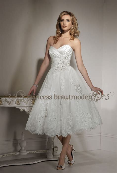 kurzes brautkleid standesamt brautkleid knielang - Brautkleid Knielang