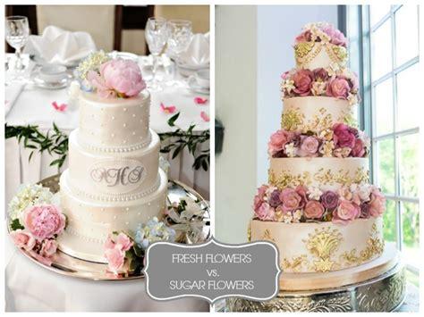 Sugar Wedding Cake Flowers by Wedding Cake Flowers Real Vs Sugar I Do Wedding Cakes
