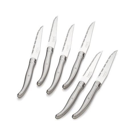 laguiole â stainless steel steak knives set of 6 set of 6 laguiole 174 stainless steel steak knives crate