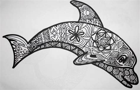 Free Coloring Pages Of Dolphin Pattern Animal Pattern Colouring Pages