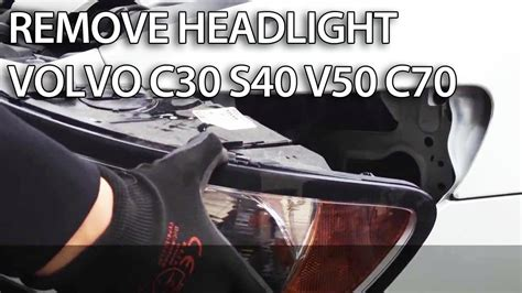 volvo c70 headlight bulb replacement how to remove headlights in volvo c30 s40 v50 c70