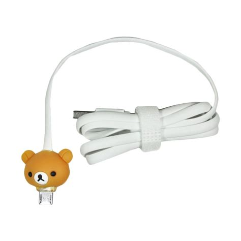 Cable Micro Karakter kabel data micro usb led karakter rilakkuma