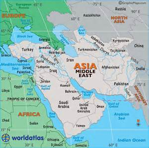 Map Of Middle East by Large Map Of Middle East Easy To Read And Printable