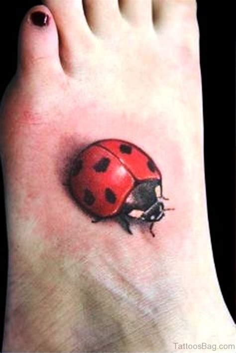 67 beautiful ladybug tattoos on foot