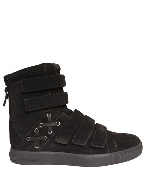sneakers with velcro straps balmain velcro high top sneakers black in black for