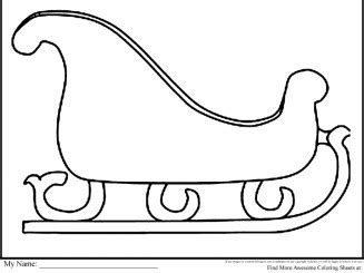 free coloring pages of santa s sleigh santa sleigh and reindeer decoration decor love
